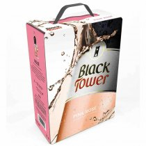 1 X Black Tower Pink Rosé 3l BIB