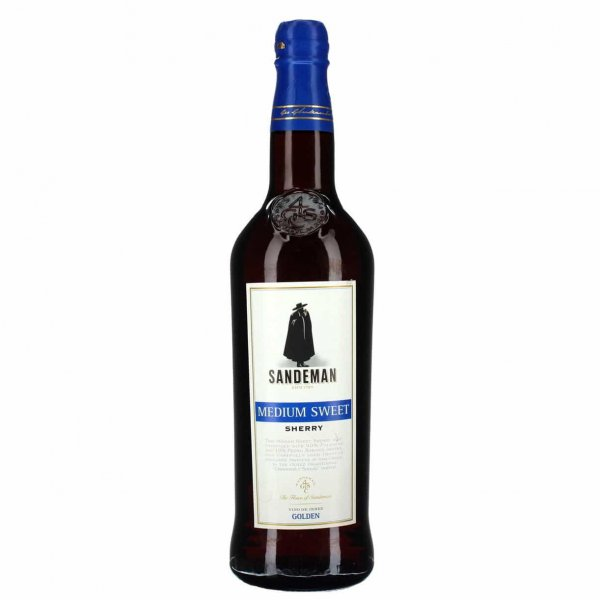 1 X Sandeman Medium Sweet Sherry 15% 0,75l